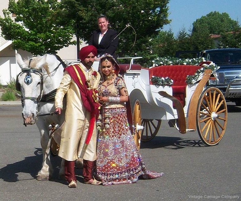 South Asian Wedding, Carriage for Wedding Couple