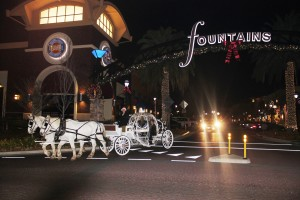 Cinderella carriage at the Fountains, Roseville, Ca
