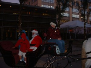 Santa Sleigh at Christmas Party