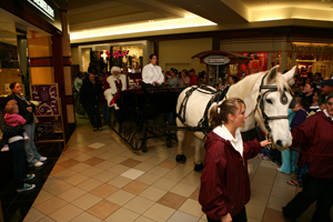 Shurwood Mall Santa Entry. Real horse, real Santa